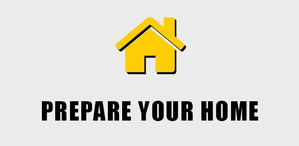Home Icon: Prepare your home