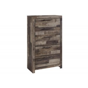 Derekson Gray 5 Drawer Chest