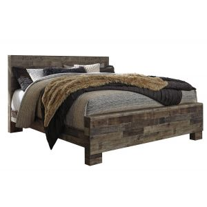 Derekson Gray King Panel Bed