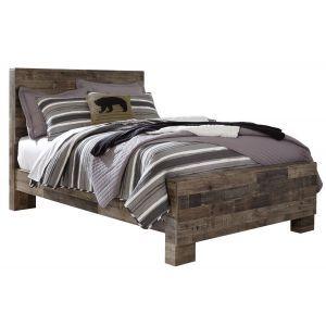 Derekson Gray Queen Panel Bed