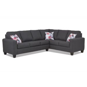 Jitterbug Gunmetal 2-Piece Sectional