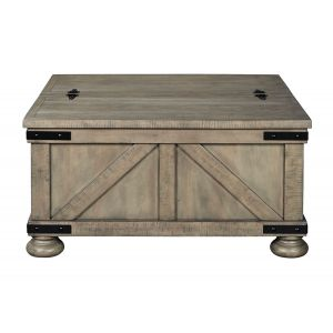 Aldwin Gray Coffee Table with Storage