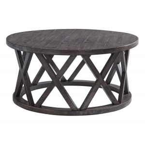 Sharzene Gray Round Coffee Table
