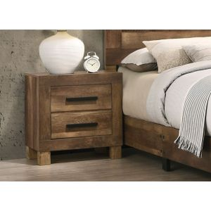 Caliban Brown Plank Nightstand