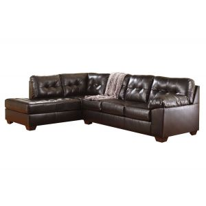 Alliston Chocolate 2Pc LEFT Chaise Sectional