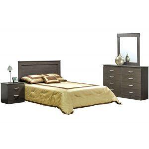 Tuxedo Grey 4-Piece Queen Bedroom Set