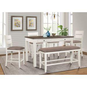 Sarasota White 6Pc Dinette Set