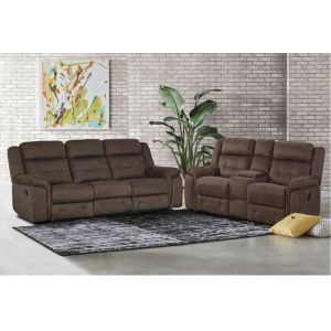 Keystone Brown Motion Sofa & Loveseat