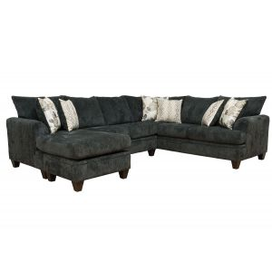 Charcoal Chenille 2PC Sectional