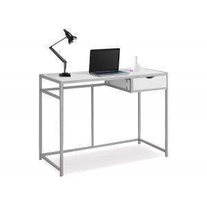 White& Silver Computer Desk