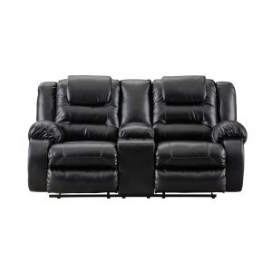 Vacherie Black Console Motion Loveseat