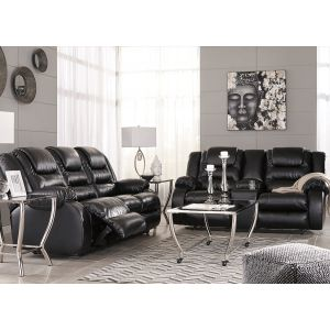 Vacherie Black Motion Sofa & Loveseat