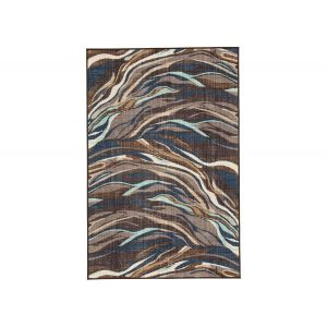 Jochebed Blue&Brown Area Rug