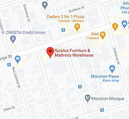 Surplus Furniture - Moncton New Brunswick Google Map