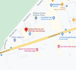 Surplus Furniture - Peterborough Ontario Google Map