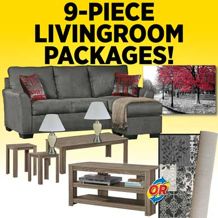 9-Piece Living Room Packages!