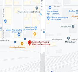 Surplus Furniture - Regina Saskatchewan Google Map