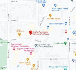 Surplus Furniture - Thunder Bay Ontario Google Map
